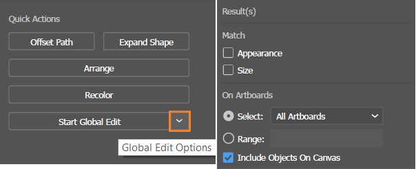 Editing similar shapes and objects globally