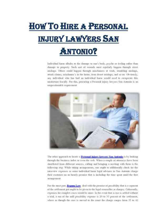 How to Hire a Personal Injury Lawyers San Antonio