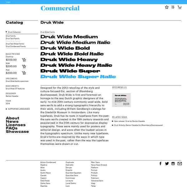 Commercialtypecomcatalogdrukdrukwide Typefaces
