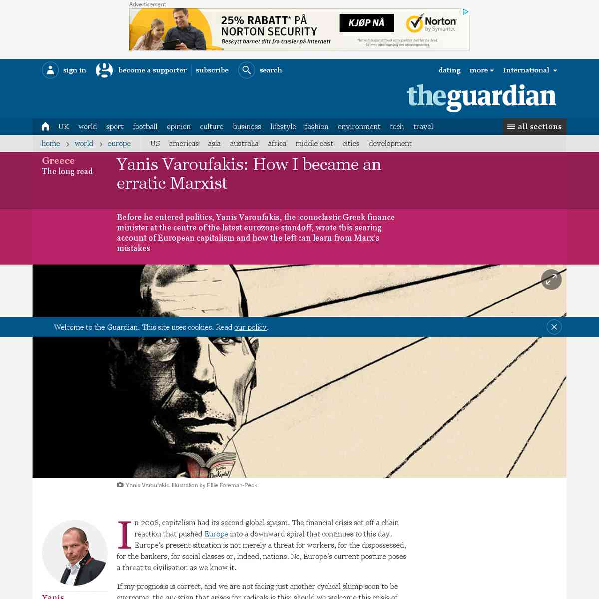 Yanis Varoufakis: How I became an erratic Marxist | News | The Guardian
