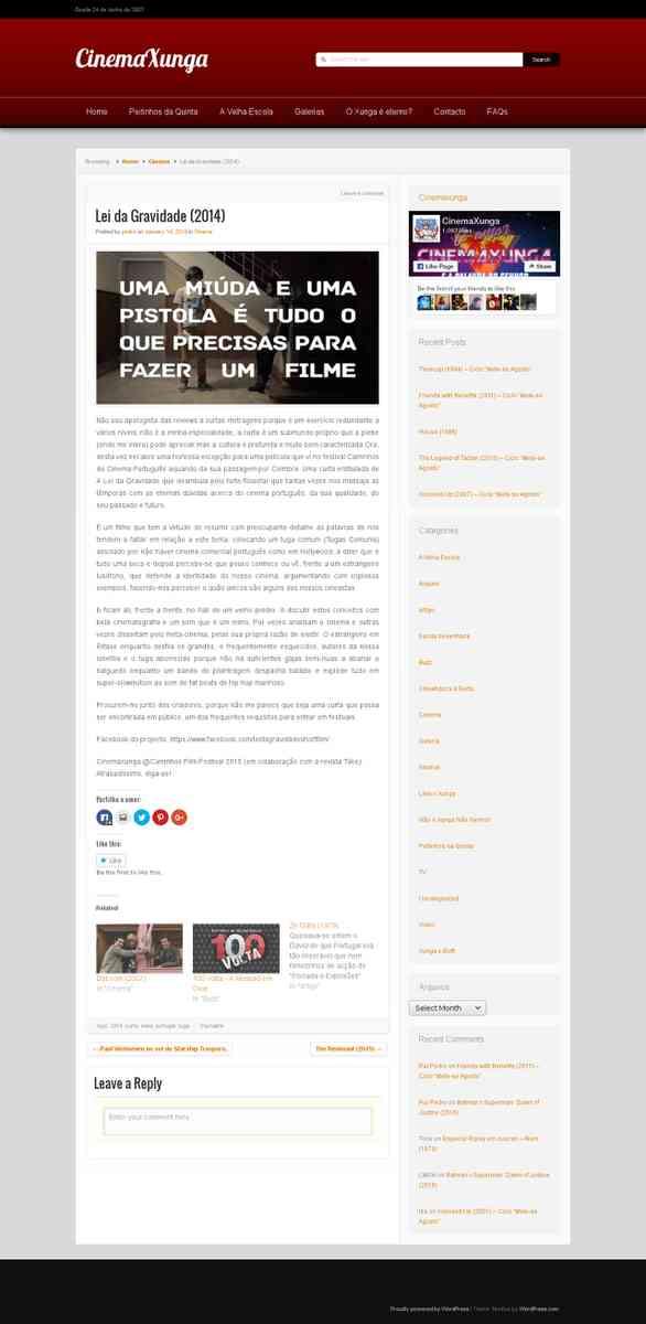 Lei da Gravidade (2014) | cinemaxunga.net