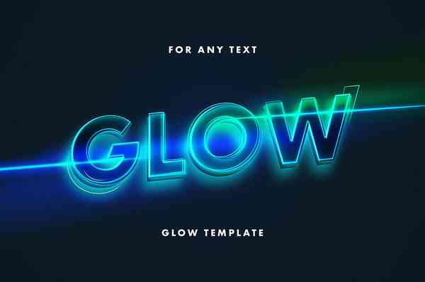 Neon Lettering Text Effect