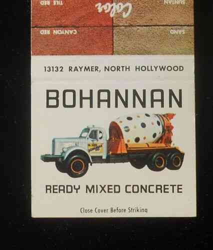 1960s Old Cement Truck Bohannan Ready-Mix Concrete Van Nuys North Hollywood CA | eBay