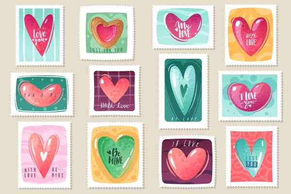 Valentine's day love cartoon collection | Hearts
