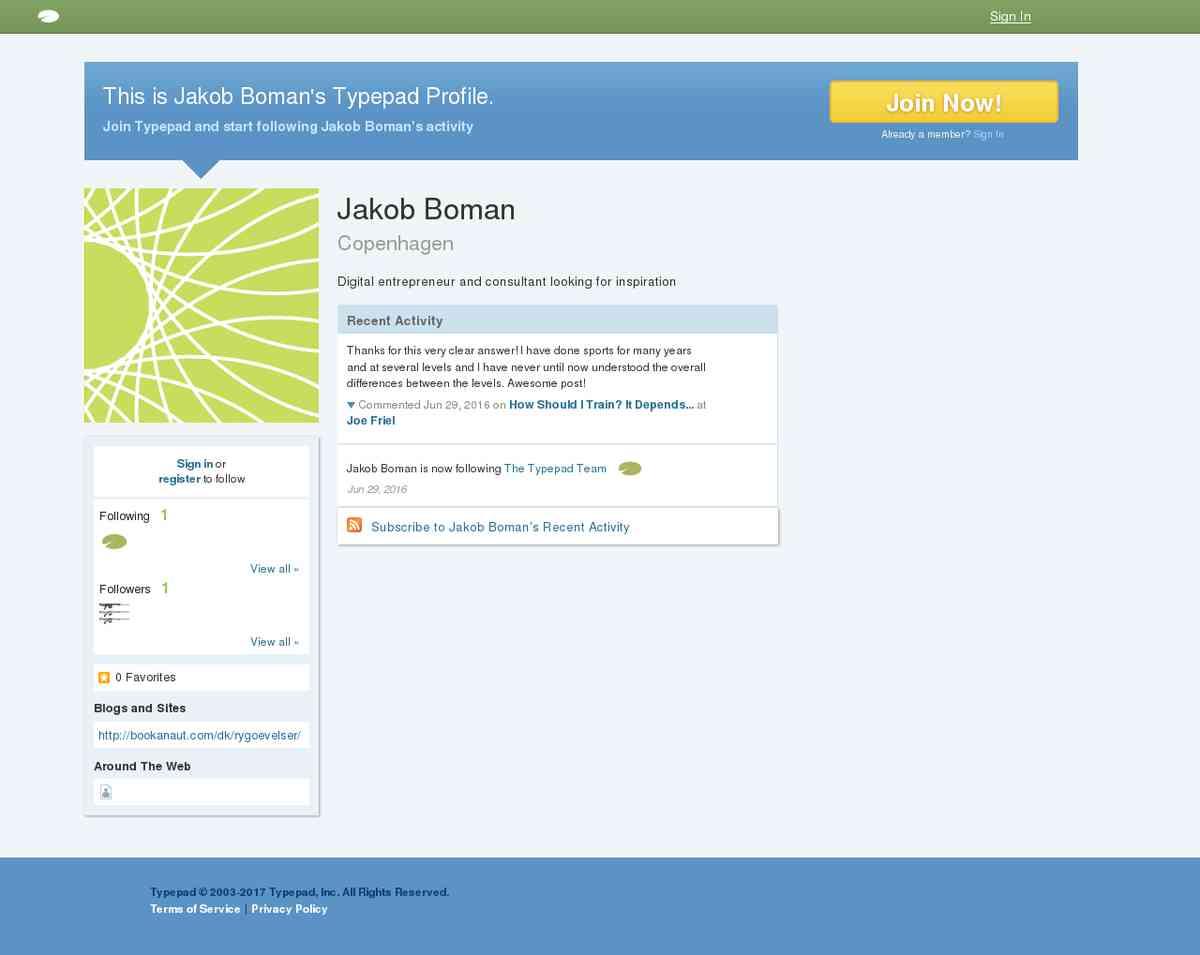 Jakob Boman's Profile | Typepad