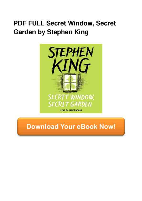 Full Book Secret Window Secret Garden Epub Js49094593 Happy