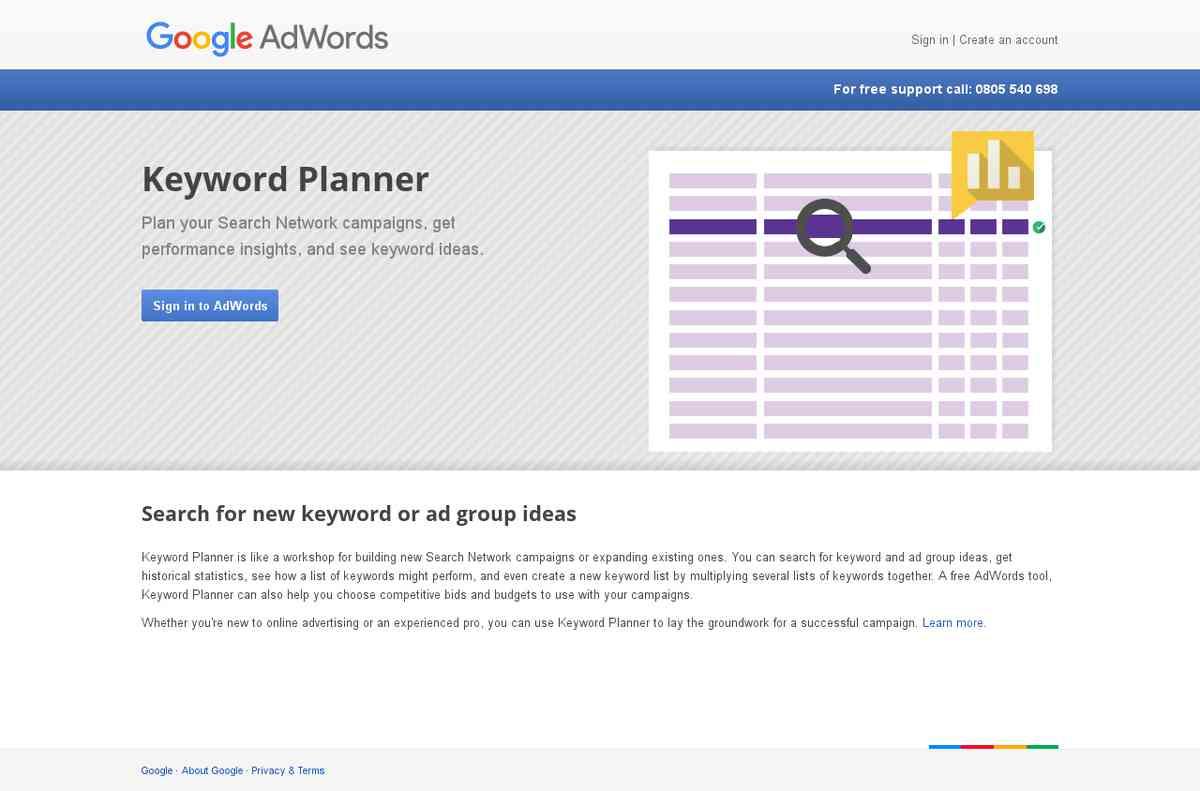Google AdWords: Keyword Planner