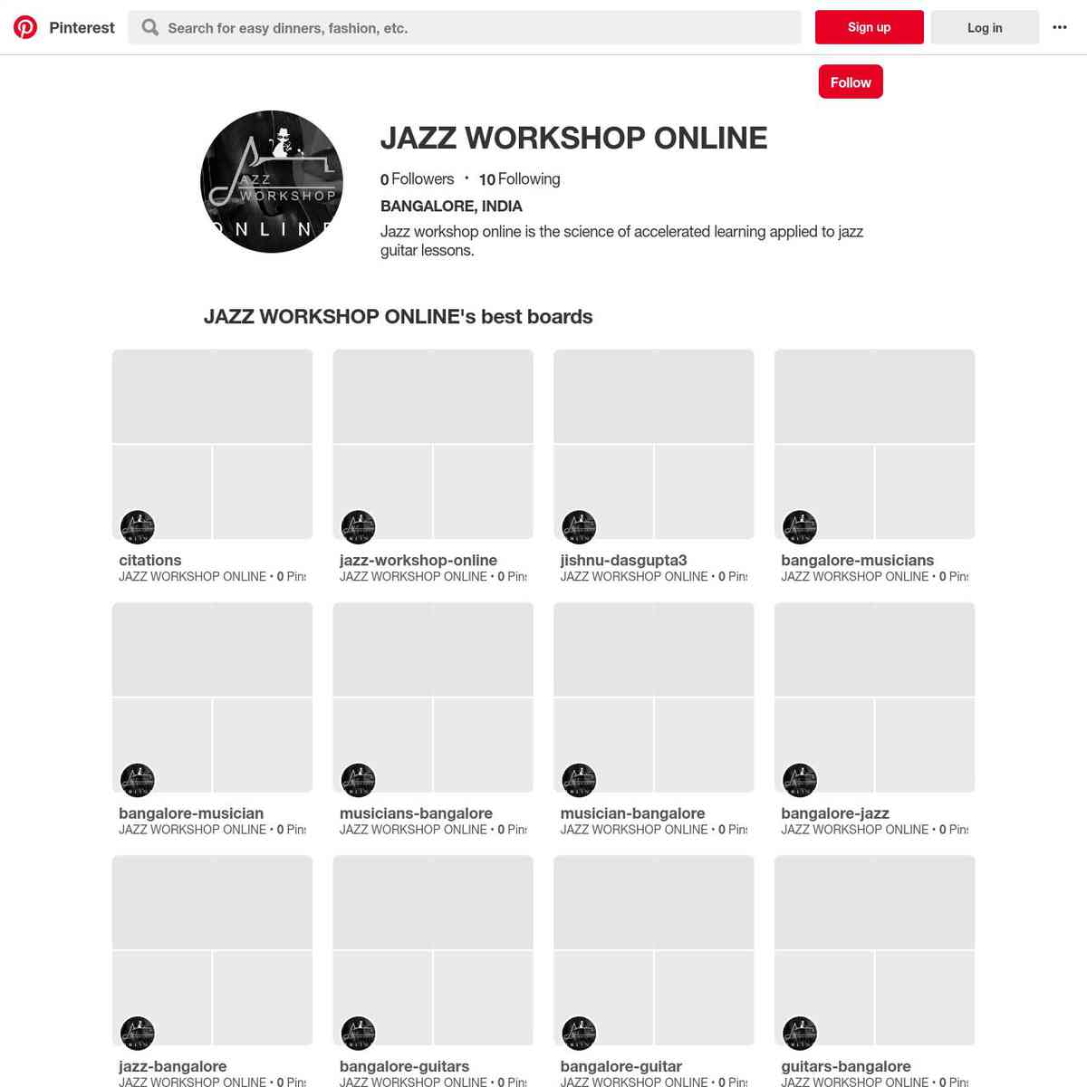 JAZZ WORKSHOP ONLINE PINTEREST