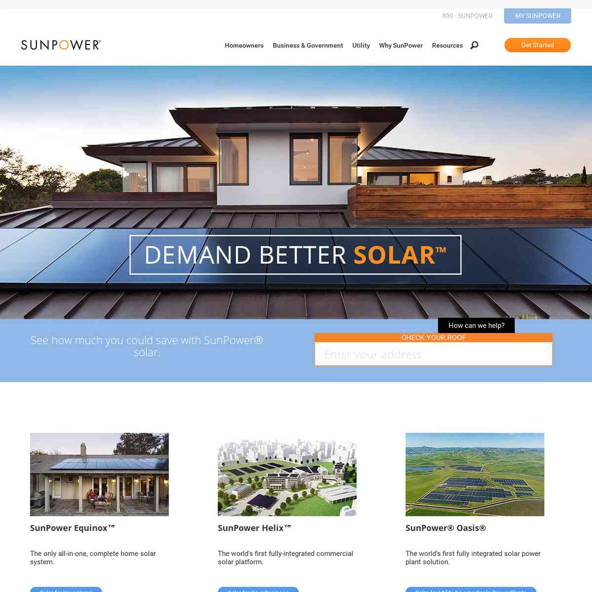 Home Solar Panels, Commercial & Utility-Scale Solar Solutions | SunPower