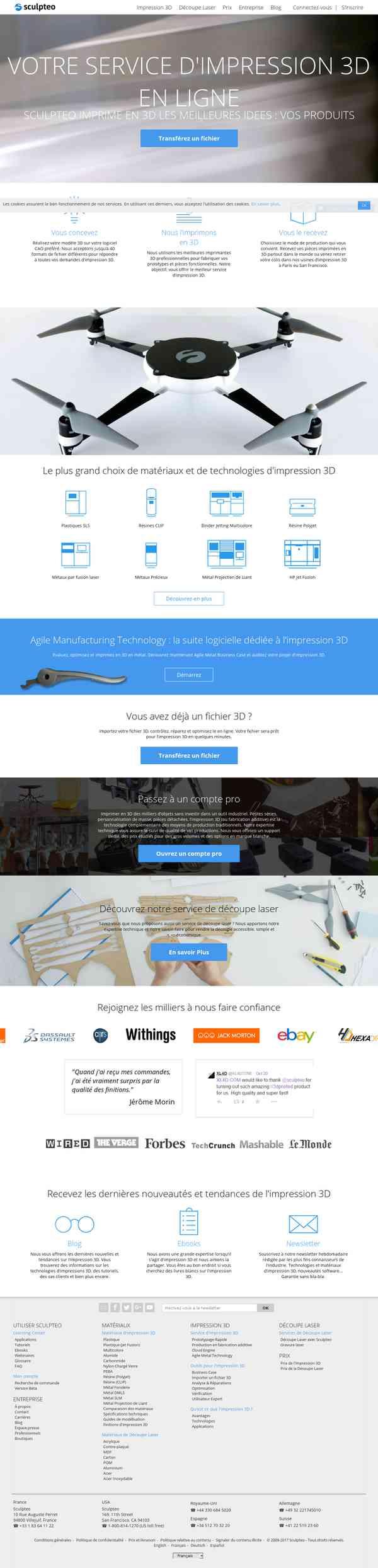Sculpteo | Impression 3D professionnelle en ligne de votre design