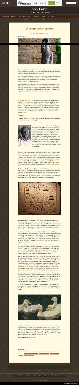 Déchiffrer les hiéroglyphes - Eden Saga