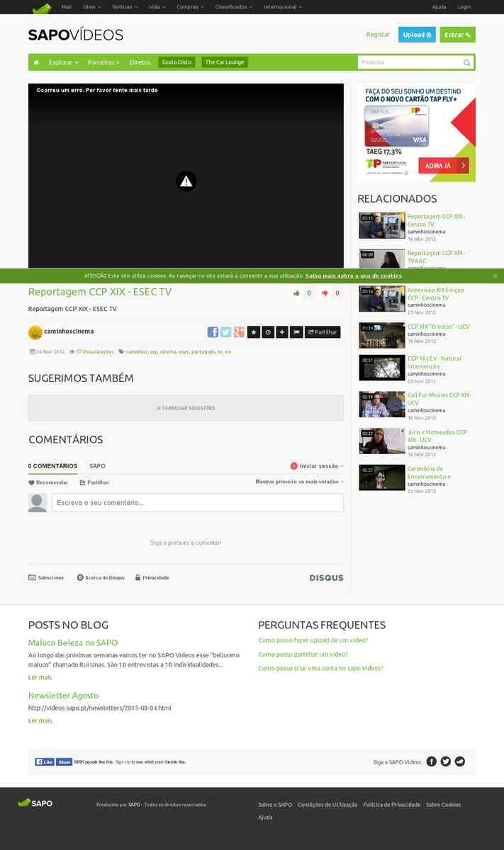 Reportagem CCP XIX | esectv