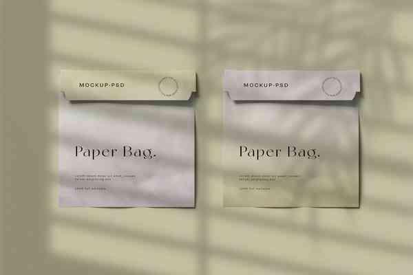 $ Paper Bag Mockup