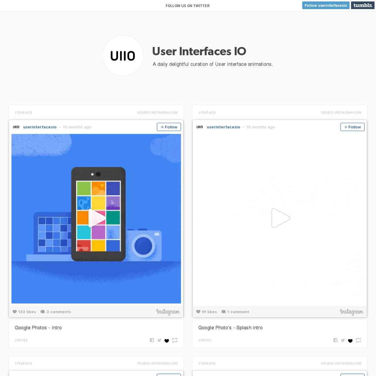 User Interfaces IO