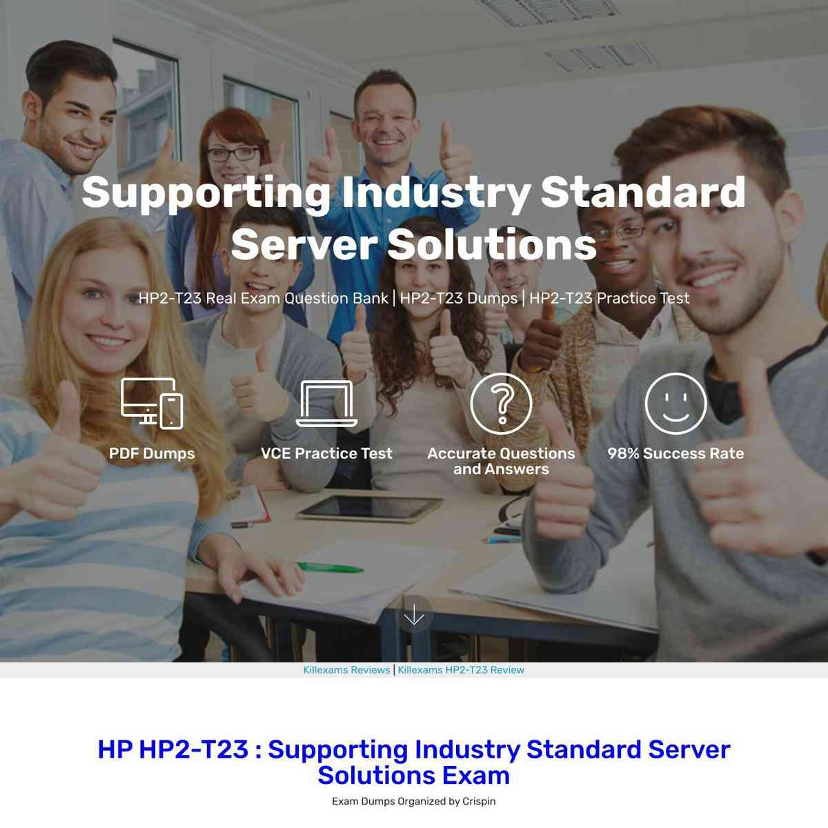 Just download and read these HP2-T23 Free Exam PDF before you go for real test