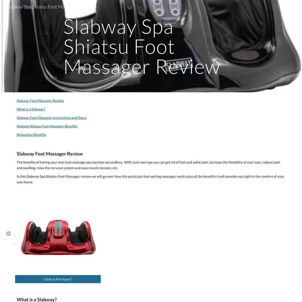 Slabway Spa Shiatsu Massager Review