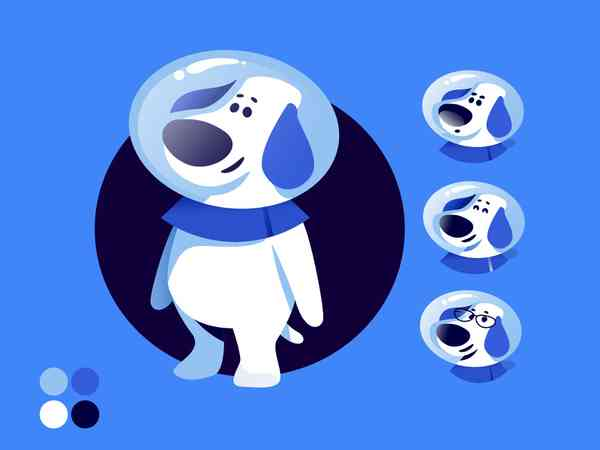 Brand Mascot | Astronaut dog