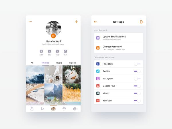 Upcoming Social App - WIP 3 by Nimasha Perera - Dribbble