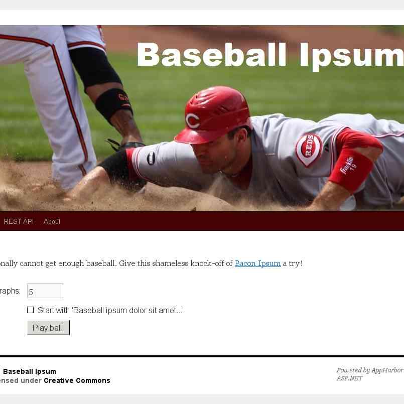 Baseball Ipsum