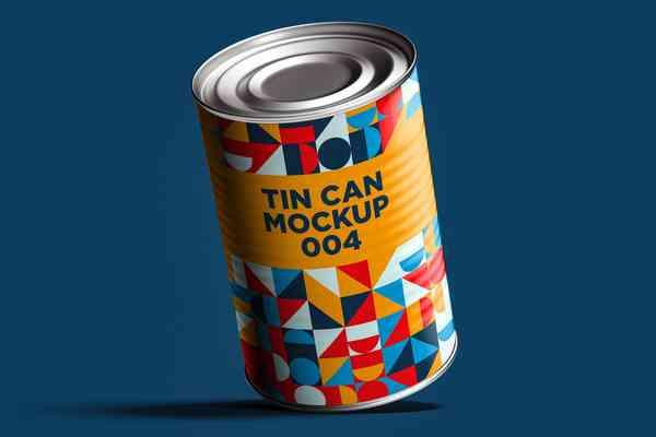 $ Tin Can Mockup 004
