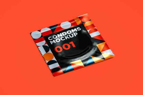 $ Condoms Mockup