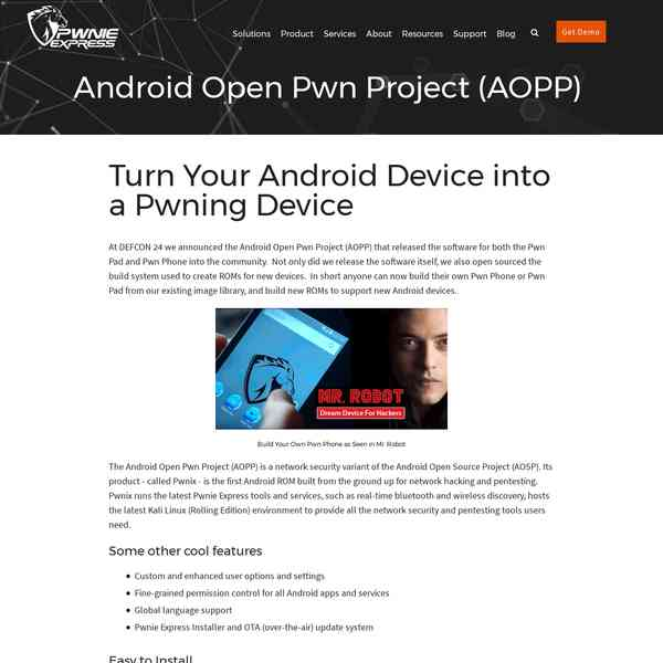 Android Open Pwn Project (AOPP) - Mobile Hack Gear
