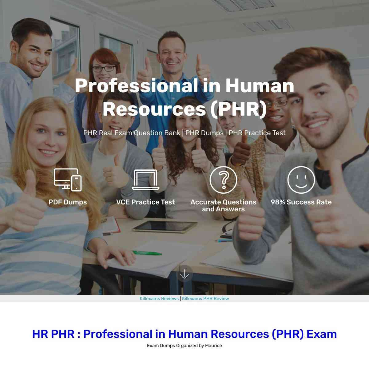 HR PHR Practice Test of Real Question are free to download
