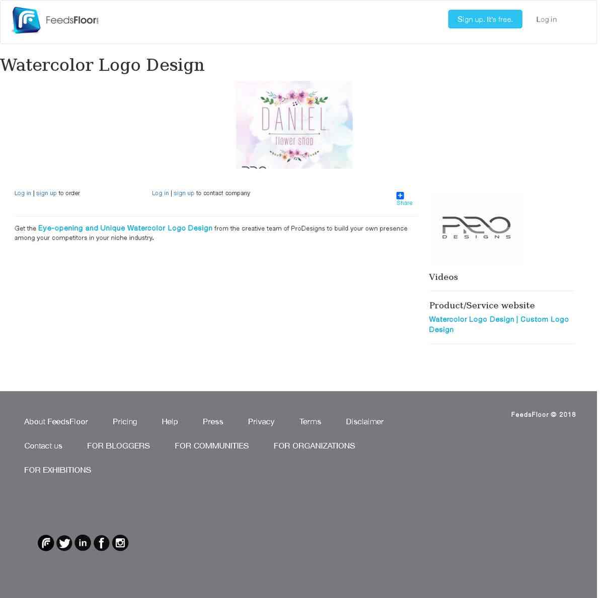 Watercolor Logo Designer