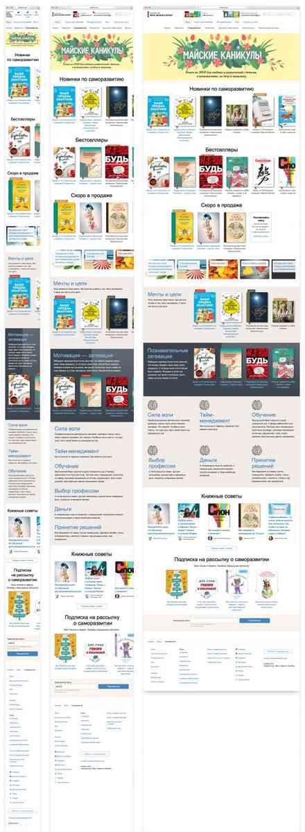 Книги по саморазвитию, в разработке, МИФ