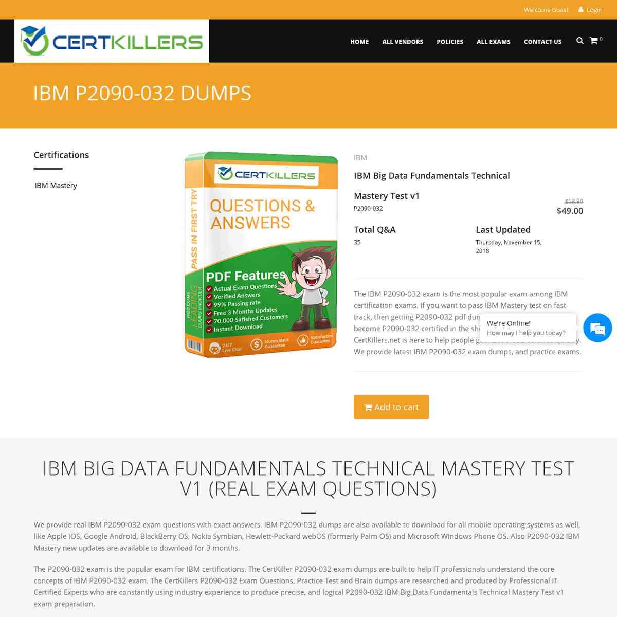 CertKillers.net Brain dumps P2090-032 Question | essay questions | pdf download