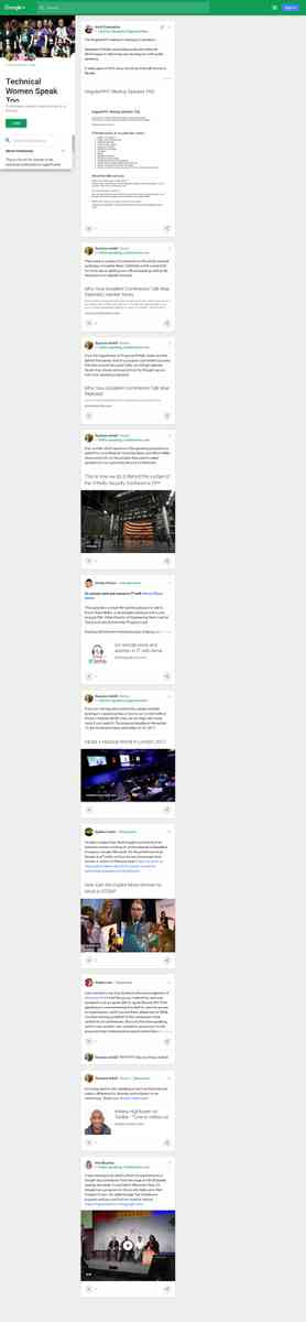 Technical Women Speak Too - Google+