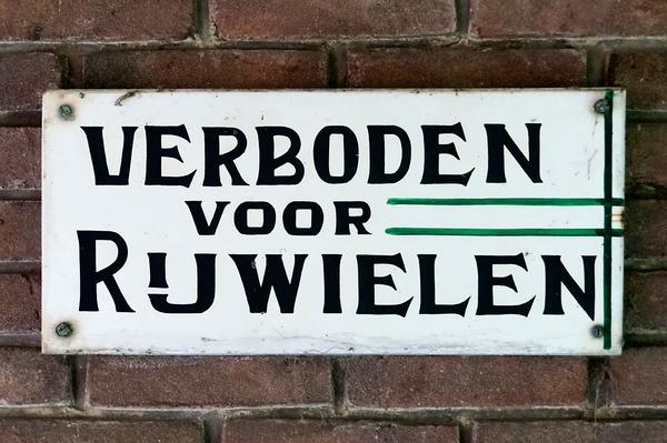 Verboden voor Rijwielen | Sign