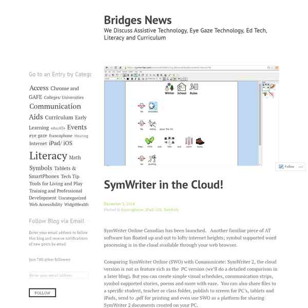 SymWriter in the Cloud! | Bridges News - Com - Veille