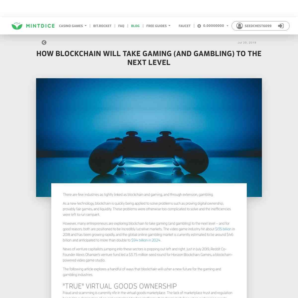 How Blockchain Will Take Gaming (and Gambling) to the Next Level