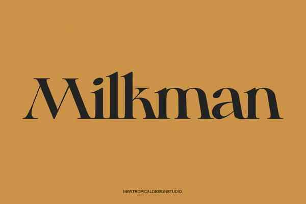 Milkman Serif Font