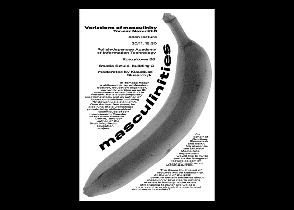 Variations of masculinity | Poster