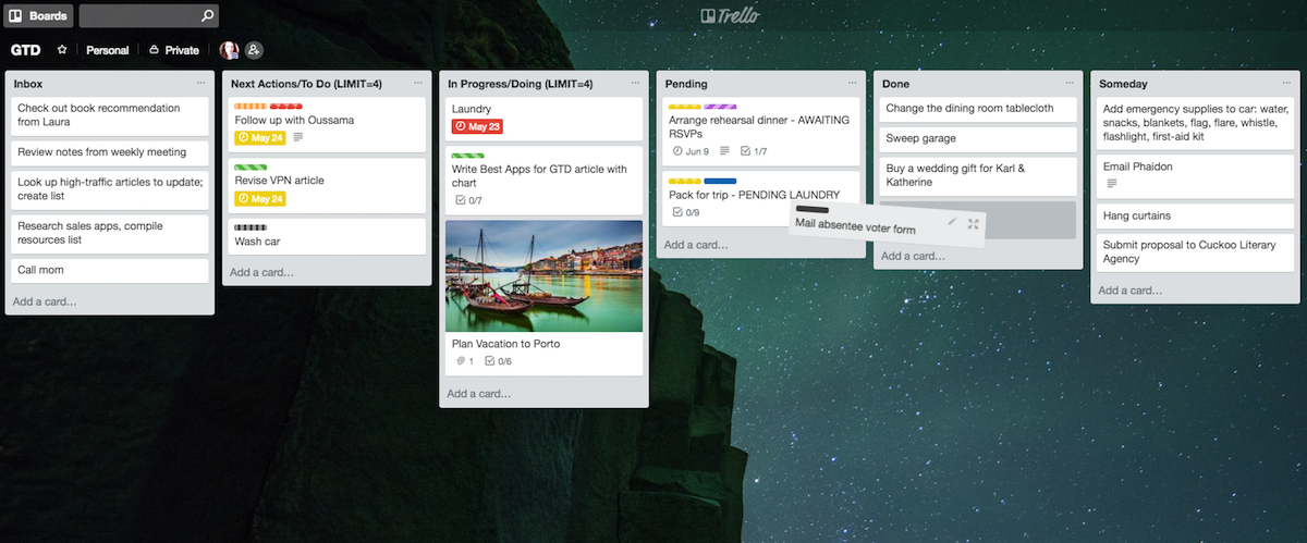 How to Use Trello or Any Kanban App for GTD