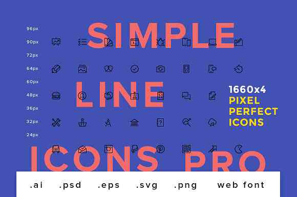Simple Line Icons Pro