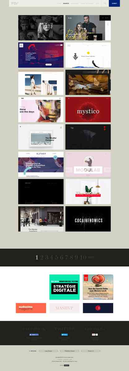 webdesign, inspiration, graphic design, showcase... The best webdesign by French
