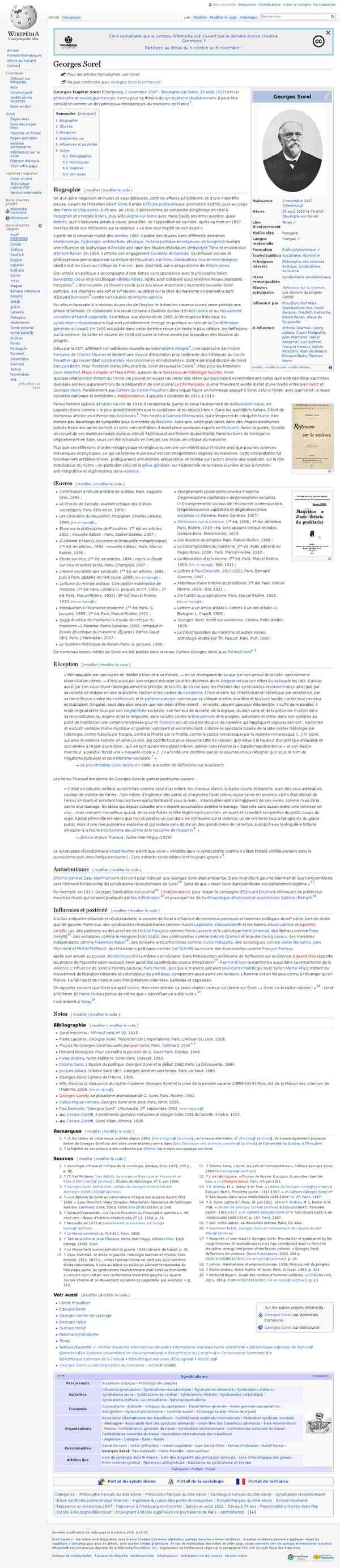 Georges Sorel — Wikipédia