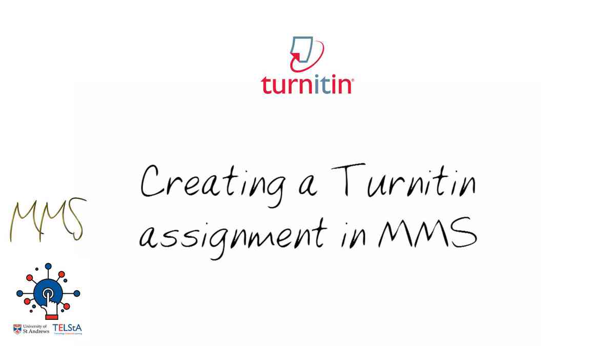 Creating a Turnitin assignmentin MMS