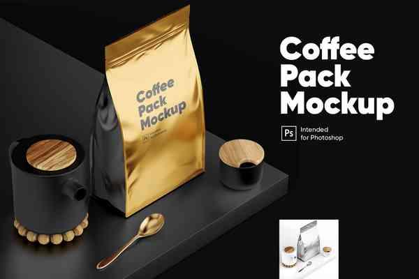 $ Coffee Pack Mockup