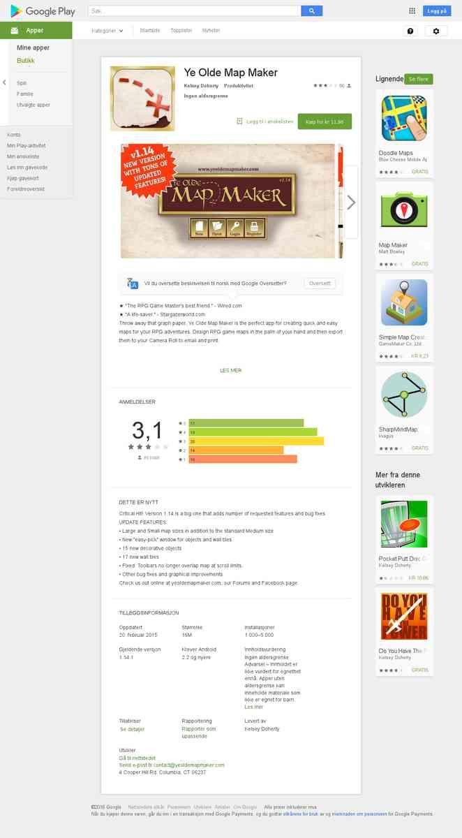 mapper - Ye Olde Map Maker $$$