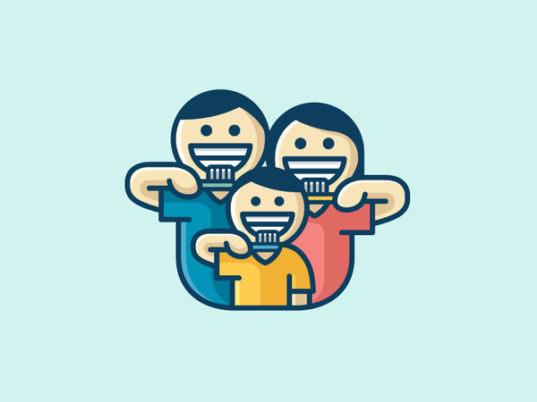 Family Brushing Teeth by Alfrey Davilla | vaneltia - Dribbble