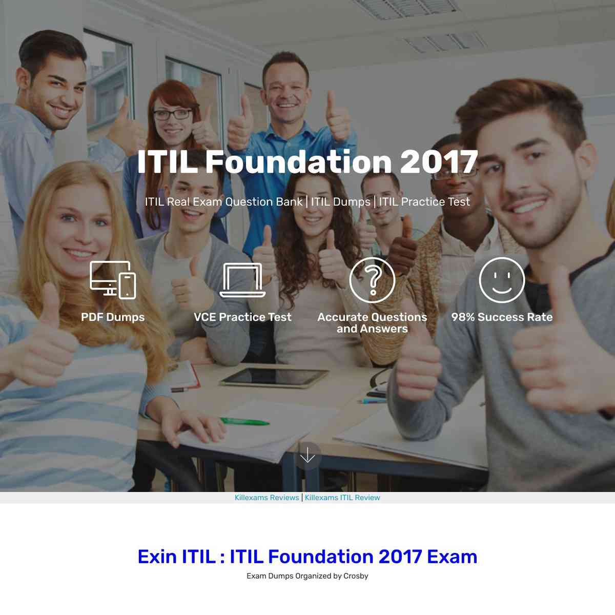 Real ITIL questions that verified up in test today