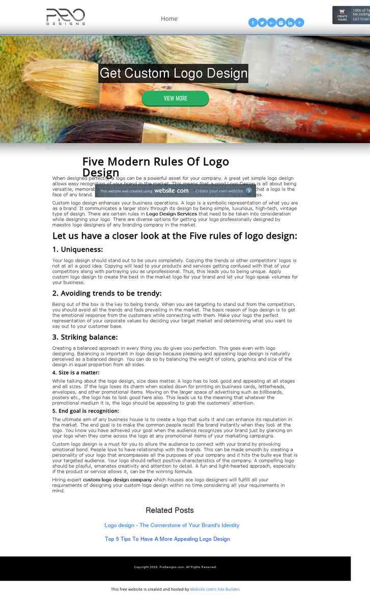 Five Modern Rules Of Logo Design
