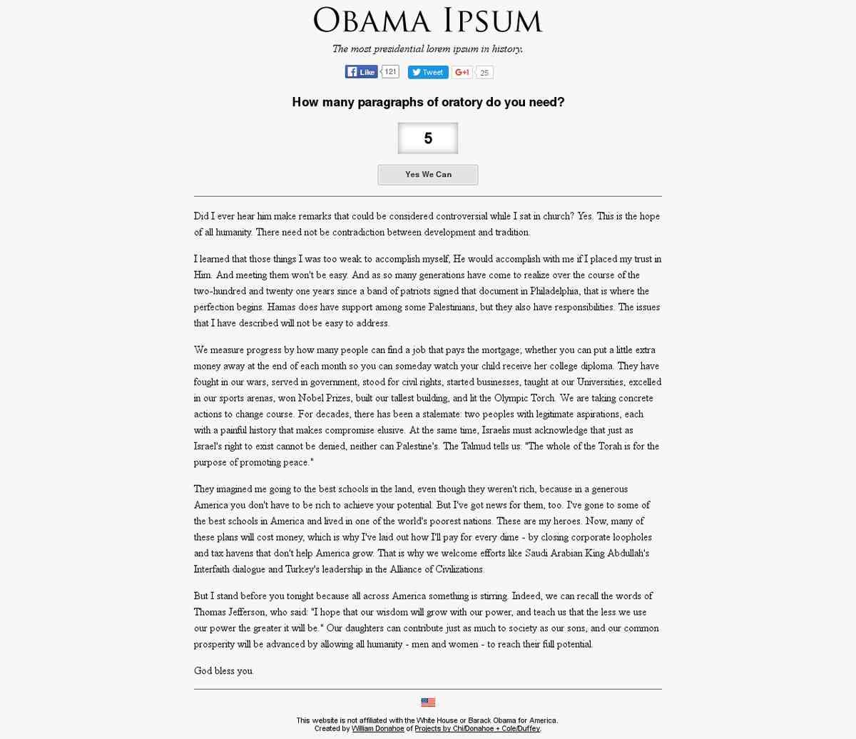 Obama Ipsum
