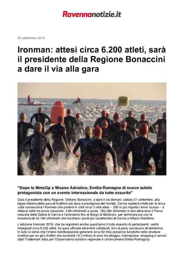 2017-09-10 RavennaNotizie_ Ironman attesi 6.200 atleti