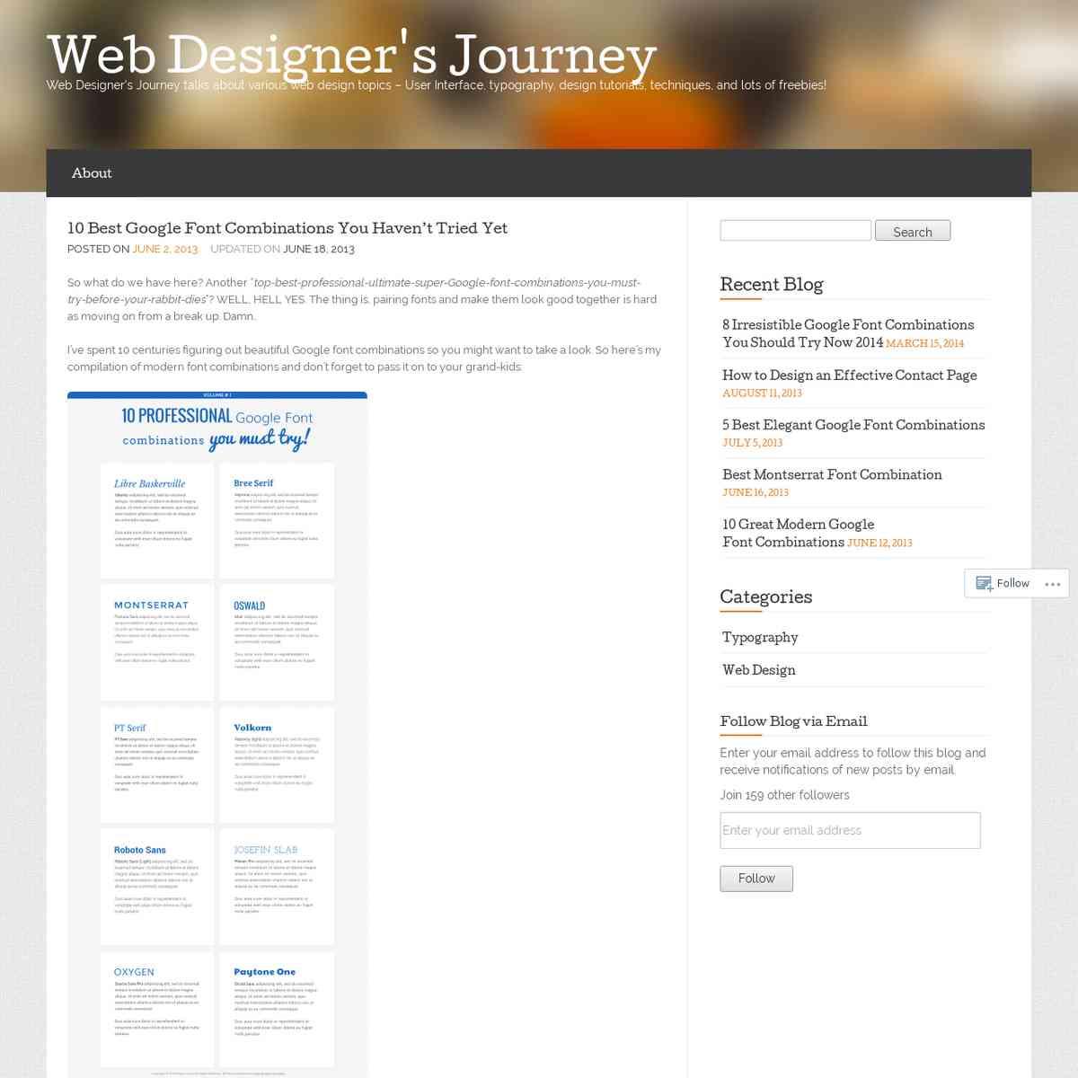 10 Best Google Font Combinations You Haven't Tried Yet « Web Designer's Journey