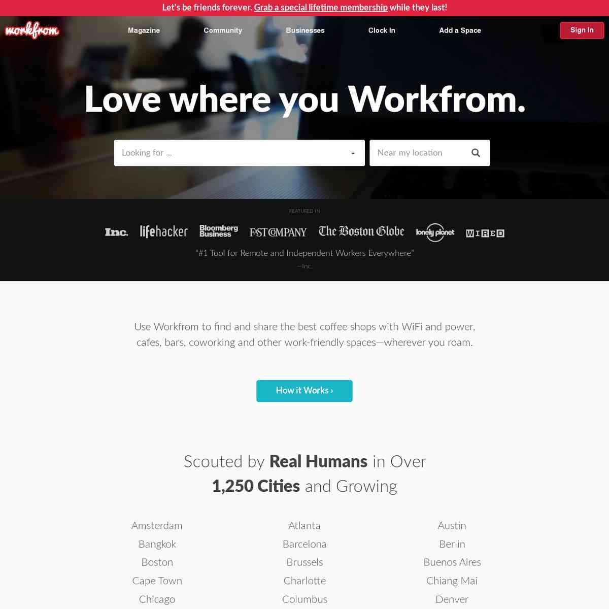 Workfrom — Best Places to Work Remotely in a City
